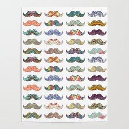 Mustache Mania Poster