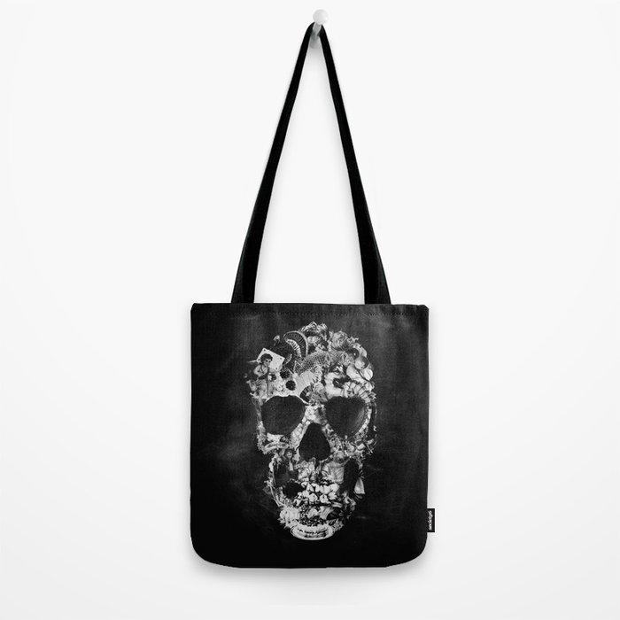 Vintage Skull BW Tote Bag