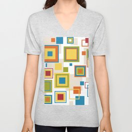 Abstract square patterns Unisex V-Neck
