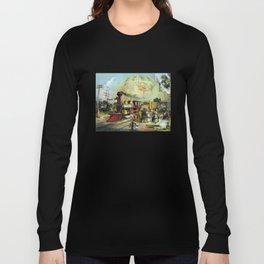 Vintage Transcontinental Railroad Long Sleeve T-shirt