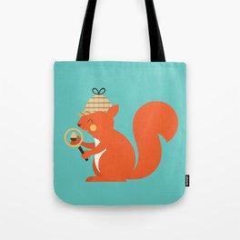 Animal Alphabet - Squirrel Tote Bag