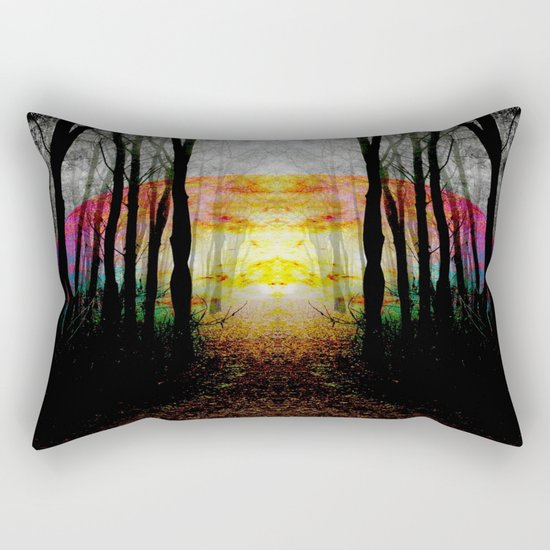 Rainbow Path To Imagination Rectangular Pillow