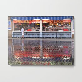 Shiny Happy Boardwalk  Metal Print