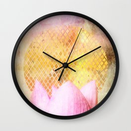 Lotus Sun Wall Clock