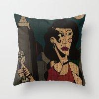 noir Throw Pillows featuring Noir by Matt Jeffs