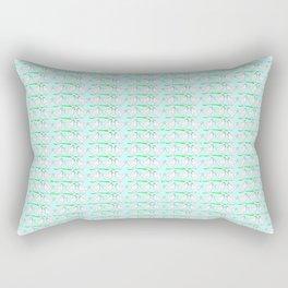 White hen on blue sky Rectangular Pillow