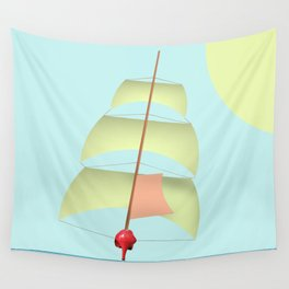 Flying and Sailing in May with May to America  - shoes stories Wall Tapestry