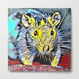 Color Kick - Rat Metal Print
