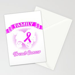 In This Family No One Fights Alone Breast Cancer Raise Awareness And Share Support On Fighter Stationery Cards