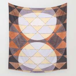 Triangles and Circles Pattern no.24 Wall Tapestry