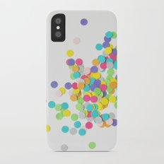 Confetti on White iPhone X Slim Case