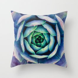 Bold Succulent Throw Pillow