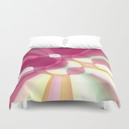 Striations Pinks and Beiges Duvet Cover
