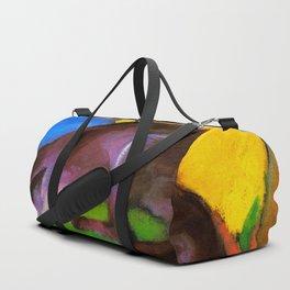Franz Marc - Blue-Black Fox Duffle Bag