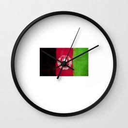 Afghanistan Flag design | Afghan design Wall Clock