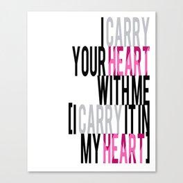 HEART CARRY Canvas Print