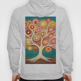 Tree of life with colorful abstract circles Hoody