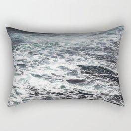 Getting lost in Ocean hues Rectangular Pillow