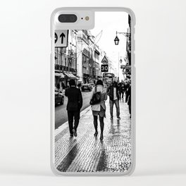 One Way Afternoon (Lisbon) Clear iPhone Case
