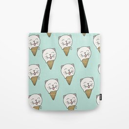 Kitty-Cream Tote Bag