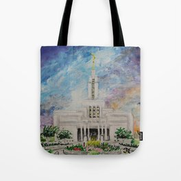 Draper Utah LDS Temple Tote Bag