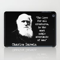 darwin iPad Cases featuring Darwin by PsychoBudgie