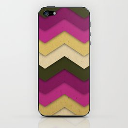 Flower Field Chevron iPhone Skin
