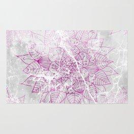 Modern abstract pink watercolor mandala marble pattern Rug