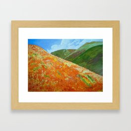 California Poppies, landscape art Framed Art Print