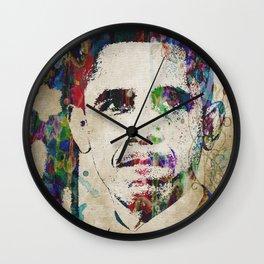 Obama - Last Great President Watercolor Pop Art Trump Wall Clock