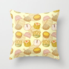 Dimsum everywhere! [yellow] Throw Pillow