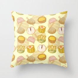 Dimsum everywhere! [yellow] Throw Pillow