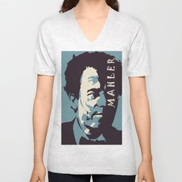 Mahler (Blue) Unisex V-Neck