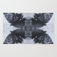 moth Area & Throw Rugs featuring Moth  by Ali Prentice