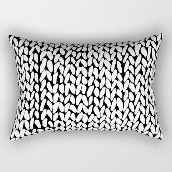 Hand Knitted Loops Rectangular Pillow