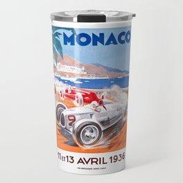 1936 Monaco Grand Prix Race Poster  Travel Mug