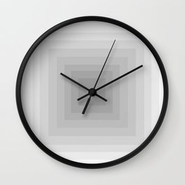Gray Monochrome Wall Clock