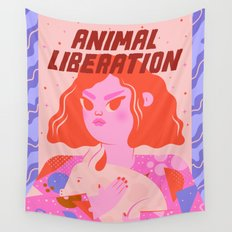Animal Liberation Wall Tapestry