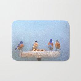 Bluebird Storm Bath Mat