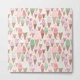 Ice Cream Cones! Metal Print