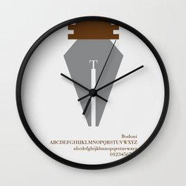 PEN - FontLove Wall Clock