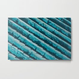 AQUA BLUE ROOF TILES Metal Print