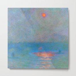 """Claude Monet """"Waterloo Bridge - Effect of Sunlight in the Fog"""" (1903) Metal Print"""