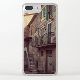 Italian classic town view Clear iPhone Case