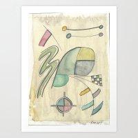 kandinsky Art Prints featuring Kandinsky Re-imagined ii (2014) by Eli Dorman