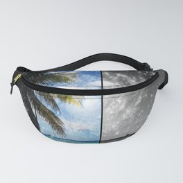 Caribbean Dreaming - digital artwork tribute to Isla Saona in the Dominican Republic Fanny Pack