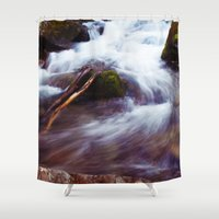 montana Shower Curtains featuring Montana Waters by Kenna Allison