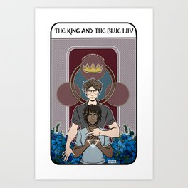 The King and the Blue Lily Art Print