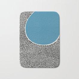 Abstract Blue Lake Bath Mat