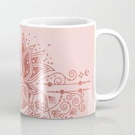 Sacred Lotus Mandala – Rose Gold & Blush Palette Coffee Mug